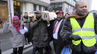 Illustration picture shows a manifestation of various Congolese associations calling Joseph Kabila to step down as President of the Democratic Republic of the Congo, Saturday 30 December 2017 in Brussels. BELGA PHOTO NICOLAS MAETERLINCK