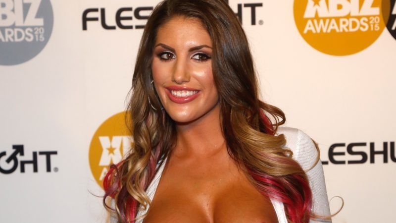 Adult film actress August Ames arrives at the 2015 Xbiz Awards in Los Angeles, USA, on 15 January 2015. Photo: Hubert Boesl - NOWIRESERVICE -