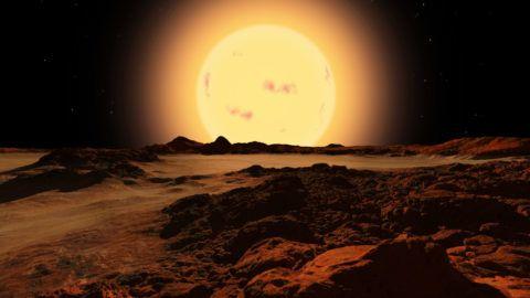 Exoplanete Kepler-42 d : Kepler-42d, anciennement KOI-961.03 puis KOI-961 d, est une exoplanete en orbite autour de Kepler-42 (KOI-961), une etoile situee a environ 126 annees-lumiere du Systeme solaire, dans la constellation du Cygne. Un systeme planetaire d'au moins trois exoplanetes de tailles comprises entre celles de Mars et de Venus aurait ete detecte autour de cette naine rouge le 11 janvier 2012 par la methode des transits a l'aide du telescope spatial Kepler . Kepler-42d serait un astre de 0,57 rayon terrestre avec une temperature moyenne d'environ 175 *C. Kepler-42 d is a small exoplanet in orbit around Kepler-42. Formerly known as KOI-961, Kepler-42 is a red dwarf located in the constellation Cygnus and approximately 126 light years from the Sun. It has three known extrasolar planets, all of which are smaller than Earth in radius, and likely also in mass ©Ron Miller/Novapix/Leemage