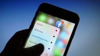 The Facebook app is seen on an iPhone on December 1, 2017. (Photo by Jaap Arriens/NurPhoto)