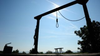 Gallows in the nature