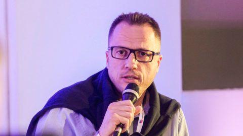 Bíró Pál, a YouTube termékmenedzsere az Öregedő digitális bennszülöttek: gyorsuló generációváltások című panelbeszélgetésen a Media Hungary konferencián a siófoki Hotel Azúrban 2014. május 13-án. MTI Fotó: Szigetváry Zsolt