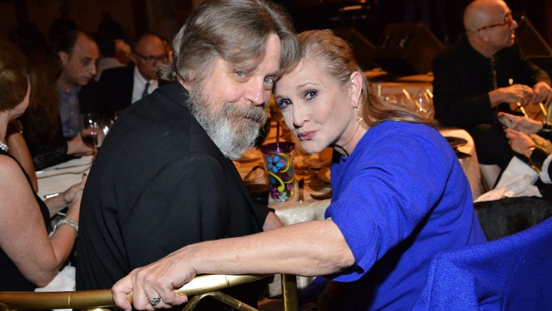 BEVERLY HILLS, CA - SEPTEMBER 30:  Mark Hamill and Carrie Fisher attend the Midnight Mission's 100 year anniversary Golden Heart Gala held at the Beverly Wilshire Four Seasons Hotel on September 30, 2014 in Beverly Hills, California.  (Photo by Araya Diaz/Getty Images for The Midnight Mission)