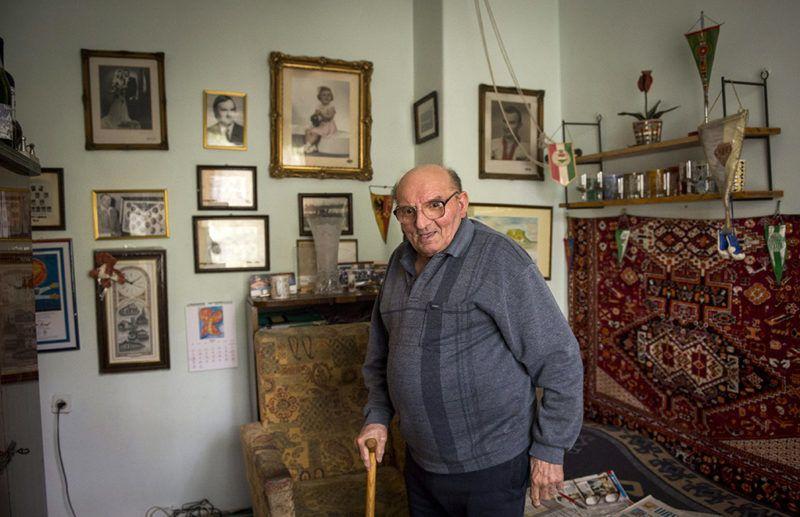 Budapest, 2016. május 11.Tóth II. József, az Aranycsapat egykori tagja csepeli otthonában 2016. május 11-én. A labdarúgó május 16-án lesz 87 éves.MTI Fotó: Illyés Tibor