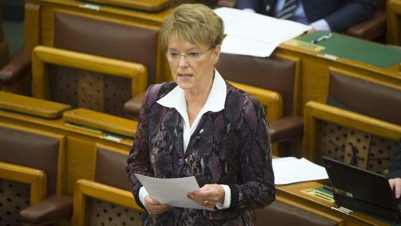 Budapest, 2016. március 1. Hoffmann Rózsa, a KDNP képviselõje napirend elõtt felszólal az Országgyûlés plenáris ülésén 2016. március 1-jén. MTI Fotó: Koszticsák Szilárd