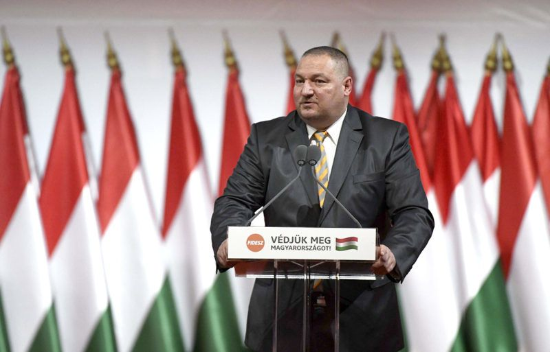 Budapest, 2017. november 12.Németh Szilárd, a Fidesz alelnöke beszédet mond a Fidesz XXVII., tisztújító kongresszusán a budapesti Hungexpón 2017. november 12-én.MTI Fotó: Koszticsák Szilárd