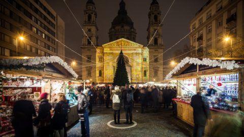 Már látogatható a Szent István-bazilikánál az adventi rendezvény
