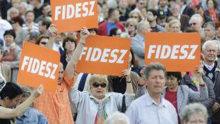 Debrecen, 2014. április 5.Résztvevők a Fidesz-KDNP debreceni választási nagygyűlésén, amelyen beszédet mondott Orbán Viktor miniszterelnök, a Fidesz elnöke 2014. április 5-én.MTI Fotó: Czeglédi Zsolt