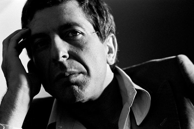 Leonard Cohen, being interviewed. (Photo by Tom Hill/WireImage)