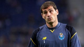 PORTO, PORTUGAL - NOVEMBER 01:  Iker Casillas of FC Porto looks on prior to the UEFA Champions League group G match between FC Porto and RB Leipzig at Estadio do Dragao on November 1, 2017 in Porto, Portugal.  (Photo by fotopress/Getty Images)