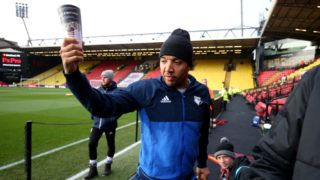 WATFORD, ENGLAND - DECEMBER 16:  Troy Deeney of Watford arrives at the stadium prior to he Premier League match between Watford and Huddersfield Town at Vicarage Road on December 16, 2017 in Watford, England.  (Photo by Alex Morton/Getty Images)
