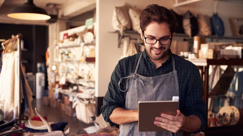 Male Owner Of Gift Store With Digital Tablet; Shutterstock ID 372396547