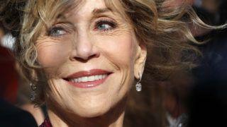 Cannes, 2015. május 21.Jane Fonda amerikai színésznő a 68. Cannes-i Nemzetközi Filmfesztiválon 2015. május 21-én. (MTI/EPA/Sebastien Nogier)