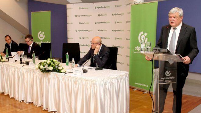 Serbia.Novi Sad.11.12.2017. OTP Bank Media Conference, which took over the Vojvodina Bank. Photo E-Stock Milos Rafailovic Konferencija za medije OTP Banke koja je preuzela Vojvodjansku banku.