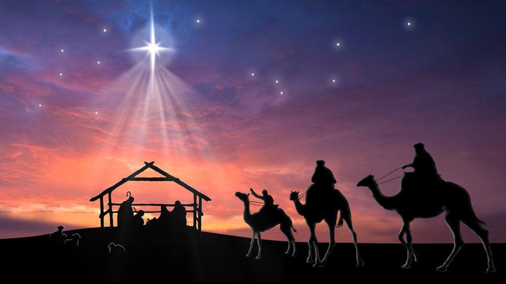 Christmas nativity background or christmas card