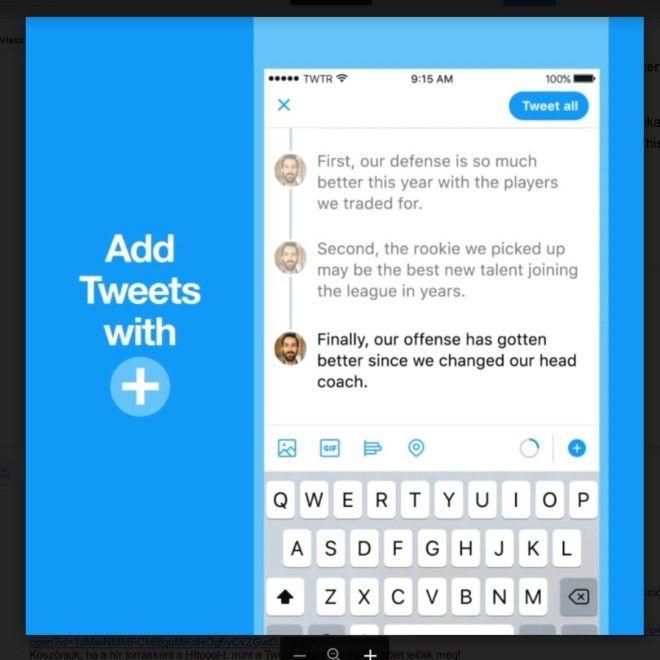 Így lehet összefűzni a tweeteket