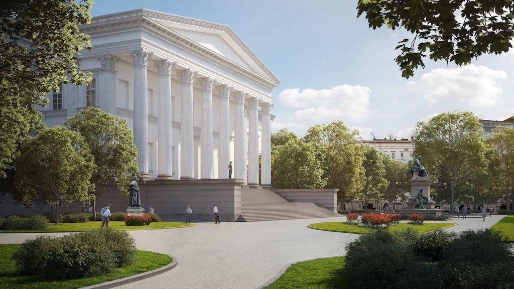 Harmincnyolc fa kivágásával újul meg a Nemzeti Múzeum kertje