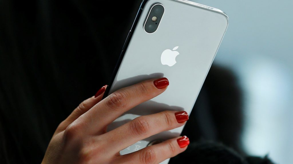 MOSCOW ,RUSSIA - NOVEMBER 03: An Apple phone is seen after Apple launched iPhone X at the store in Moscow, Russia on November 03, 2017.          Sefa Karacan / Anadolu Agency