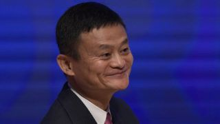 Alibaba Group Executive Chairman, Jack Ma, smiles during the Business Forum of the 11th Ministerial Conference of the World Trade Organization (WTO) in Buenos Aires, on December 12, 2017. / AFP PHOTO / Juan MABROMATA