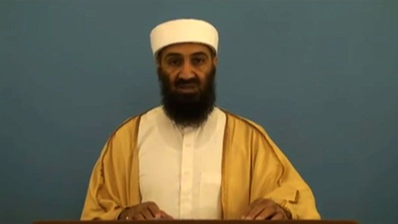 """In a screen grab from a video released by the Office of the Director of National Intelligence (ODNI) on May 20, 2015, Osama Bin Laden rehearses a speech as he appears in a video document linked to """"Bin Laden's Bookshelf,"""" a package of declassified material posted on the Office of the Director of National Intelligence website. In the unreleased video Bin Laden appears to stumble delivering a speech. The CIA declassified an Al-Qaeda recruitment form and around 100 other documents from Bin Laden's archive on May 20, 2015, allowing an insight into his thinking in his final years. The documents were among intelligence materials seized by US commandos on May 2, 2011 after they stormed Bin Laden's hideout in the Pakistani town of Abbottabad and shot him dead. AFP PHOTO/  The Office of the Director of National Intelligence (ODNI)/ HO / AFP PHOTO / ODNI / HO"""