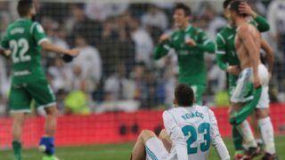 80124150. Madrid, 24 Ene 2018 (Notimex-Carlos Rojas).- La crisis del Real Madrid se agravó este miércoles, al caer eliminados en cuartos de final de la Copa del Rey, por el modesto Leganés en el Estadio Santiago Bernabéu, luego de perder 2-1 y empatar en el global 2-2. NOTIMEX/FOTO/CARLOS ROJAS/COR/SPO/