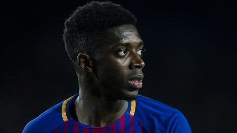 Dembele from France of FC Barcelona during the Copa del Rey (Spanish King Cup) match between FC Barcelona v Celta de Vigo at Camp Nou Stadium in Barcelona on 11 of January, 2018.  (Photo by Xavier Bonilla/NurPhoto)
