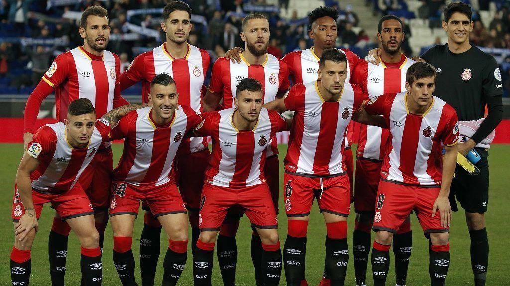 Girona team during the La Liga match between RCD Espanyol and Girona FC, in Barcelona, on December 11, 2017. (Photo by Urbanandsport/NurPhoto)