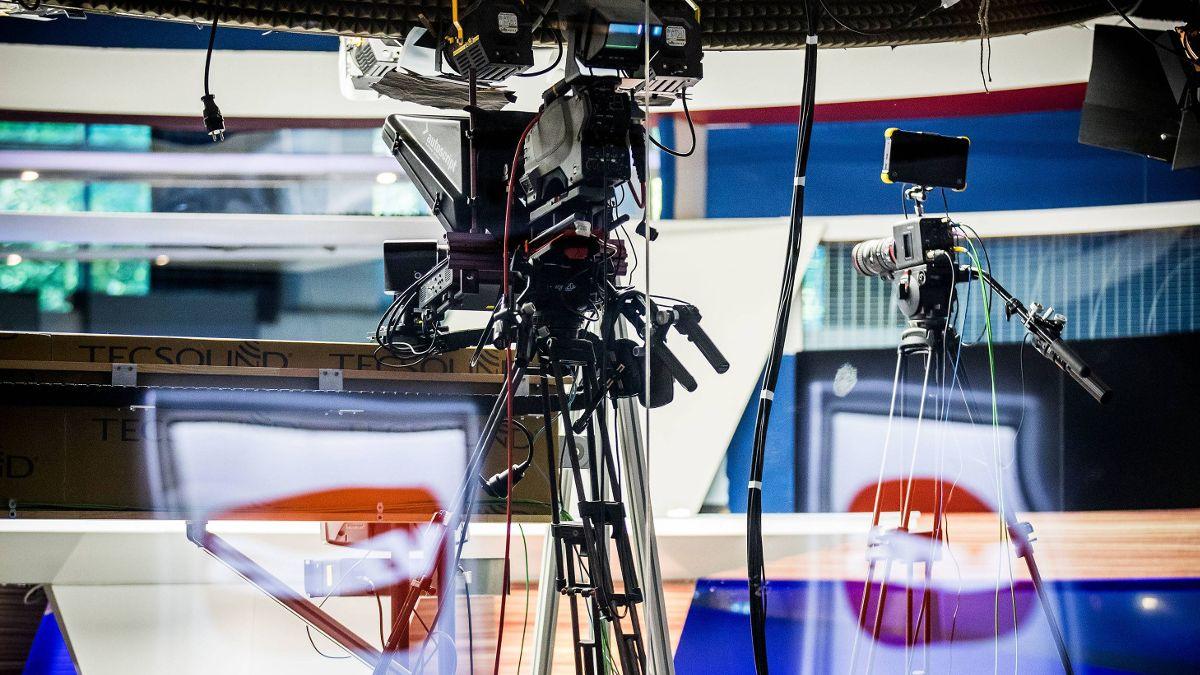 Az ATV stúdiója. Fotó: 24.hu/Berecz Valter