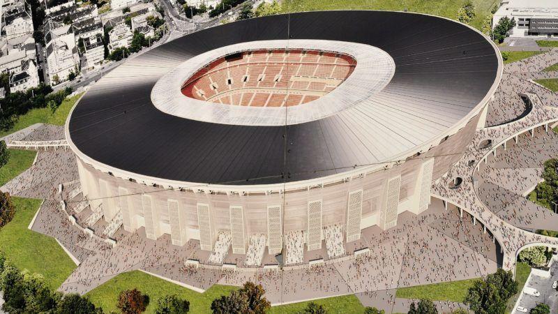 Budapest, 2017. november 27. Látványterv az új stadionról. A 2020-as labdarúgó Európa-bajnokságon három csoportmérkõzésnek és egy nyolcaddöntõnek otthont adó, 67 ezer férõhelyes új Puskás Stadionnak a határidõ szerint 2019 végére kell felépülnie. MTVA/Bizományosi: Balaton József  *************************** Kedves Felhasználó! Ez a fotó nem a Duna Médiaszolgáltató Zrt./MTI által készített és kiadott fényképfelvétel, így harmadik személy által támasztott bárminemû – különösen szerzõi jogi, szomszédos jogi és személyiségi jogi – igényért a fotó készítõje közvetlenül maga áll helyt, az MTVA felelõssége e körben kizárt.
