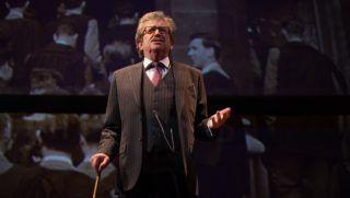Budapest, 2017. február 21. Kern András játszik Leopold szerepében Woody Allen Szentivánéji szexkomédia címû vígjátéka próbáján a Vígszínházban 2017. február 21-én. A darabot február 24-én mutatják be Alekszandr Bargman rendezésében. MTI Fotó: Kallos Bea