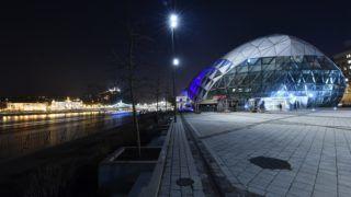 Budapest, 2017. november 28. A Bálna kereskedelmi, kulturális, szórakoztató és vendéglátó centrum esti díszkivilágításban 2017. november 28-án. MTI Fotó: Illyés Tibor