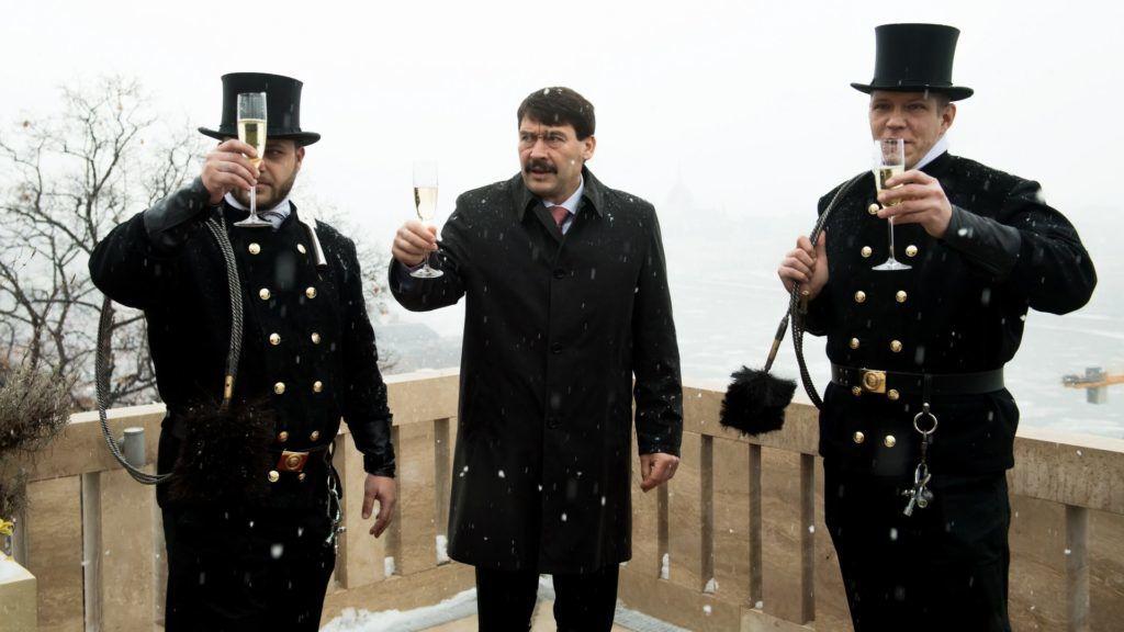 Kéményseprők kívántak boldog új évet az államfőnek