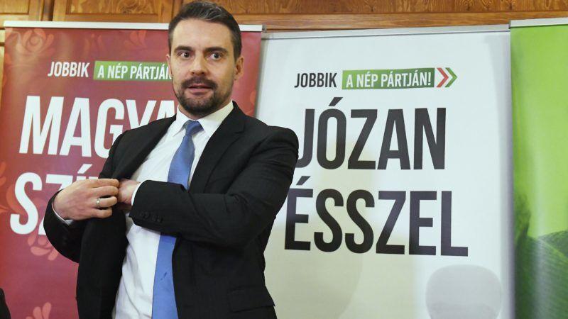 Budapest, 2018. január 13. Vona Gábor, a Jobbik elnöke párt fõvárosi jelöltjeit bemutató sajtótájékoztatóján 2018. január 13-án. MTI Fotó: Koszticsák Szilárd