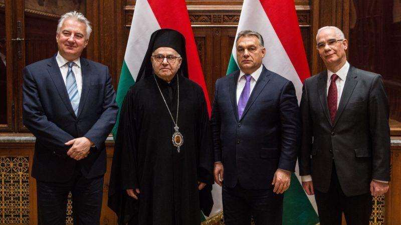 Orbán Viktor a szíriai Aleppó görögkatolikus érsekével tárgyalt