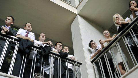 Gödöllő, 2011. szeptember 5.Diákok a Szent István Egyetem szenátusának tanévnyitó ünnepi ülésén, Gödöllőn.MTI Fotó: Beliczay László