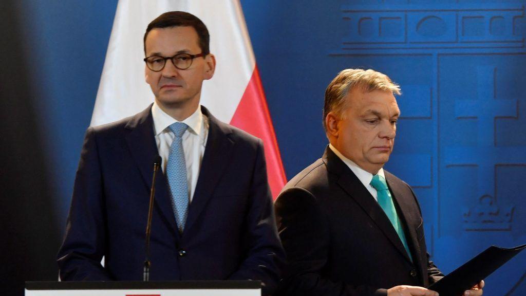 Orbán Viktor és a lengyel kormányfő sajtótájékoztatója