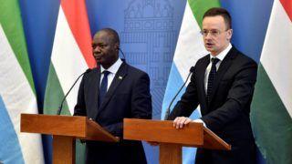 Szijjártó Péter fogadta a Sierra Leone-i külügyminisztert