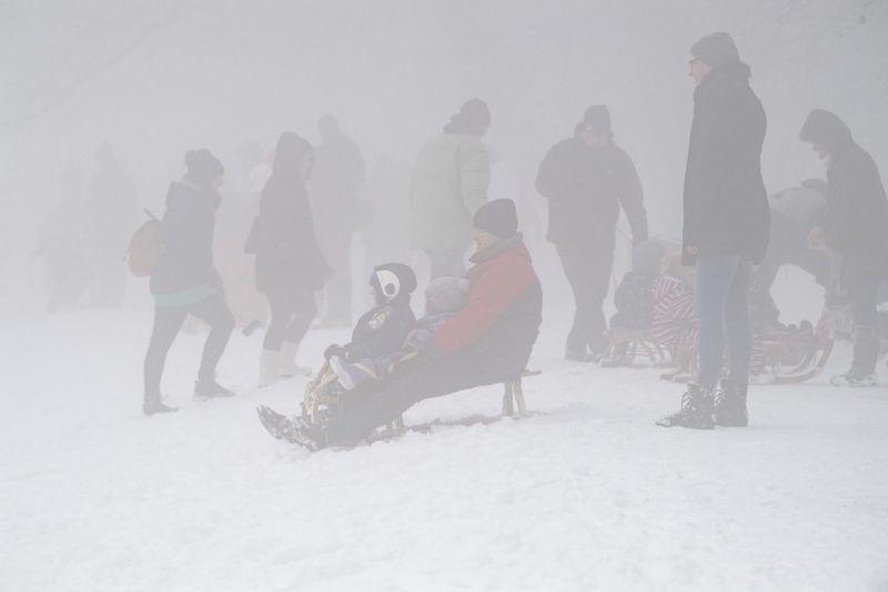Budapest, 2018. január 21. Kirándulók és szánkózók a Normafánál, a fõváros XII. kerületében 2018. január 21-én. MTI Fotó: Szigetváry Zsolt