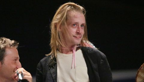 NEW YORK, NY - OCTOBER 09: Macaulay Culkin attends The Adult Swim RobotChicken Panel At New York Comic Con 2014 at Jacob Javitz Center on October 10, 2014 in New York City.  24884_010_518.JPG  (Photo by Astrid Stawiarz/WireImage for Turner Networks)