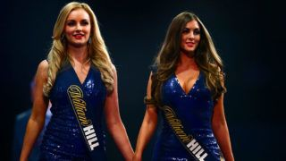 on Day Eleven of the 2016 William Hill PDC World Darts Championships at Alexandra Palace on December 29, 2015 in London, England.