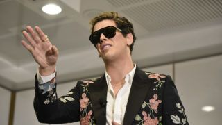 CANBERRA, AUSTRALIA - DECEMBER 05:  Milo Yiannopoulos speaks during an event hosted by senator David Leyonhjelm at Parliament House on December 5, 2017 in Canberra, Australia. Yiannopoulos is touring Australia with his Troll Academy show.  (Photo by Michael Masters/Getty Images)