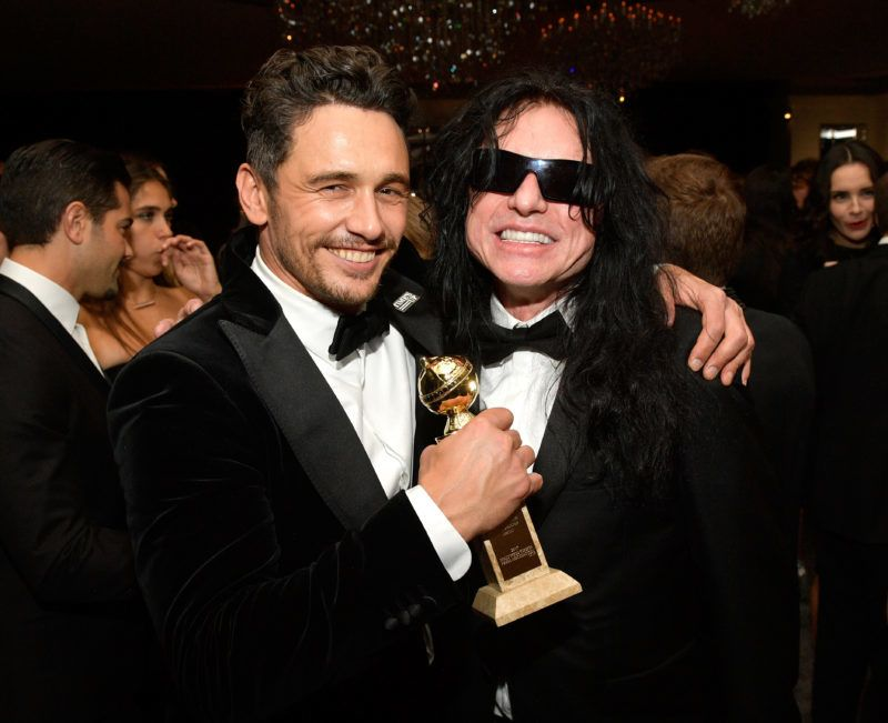 BEVERLY HILLS, CA - JANUARY 07:  Actors James Franco (L) and Tommy Wiseau attend the 2018 InStyle and Warner Bros. 75th Annual Golden Globe Awards Post-Party at The Beverly Hilton Hotel on January 7, 2018 in Beverly Hills, California.  (Photo by Matt Winkelmeyer/Getty Images for InStyle)