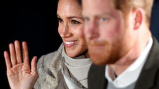 LONDON, UNITED KINGDOM - JANUARY 09: (EMBARGOED FOR PUBLICATION IN UK NEWSPAPERS UNTIL 24 HOURS AFTER CREATE DATE AND TIME) Prince Harry and Meghan Markle visit Reprezent 107.3FM on January 9, 2018 in London, England. The Reprezent training programme was established in Peckham in 2008, in response to the alarming rise in knife crime, to help young people develop and socialise through radio. (Photo by Max Mumby/Indigo/Getty Images)