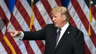 Washington, 2017. december 18. Donald Trump amerikai elnök nemzetbiztonsági stratégiáját ismerteti a washingtoni Ronald Reagen épületben 2017. december 18-án.Trump Oroszországot és Kínát emelte ki az Egyesült Államok riválisaként. (MTI/EPApool/Jim Lo Scalzo)