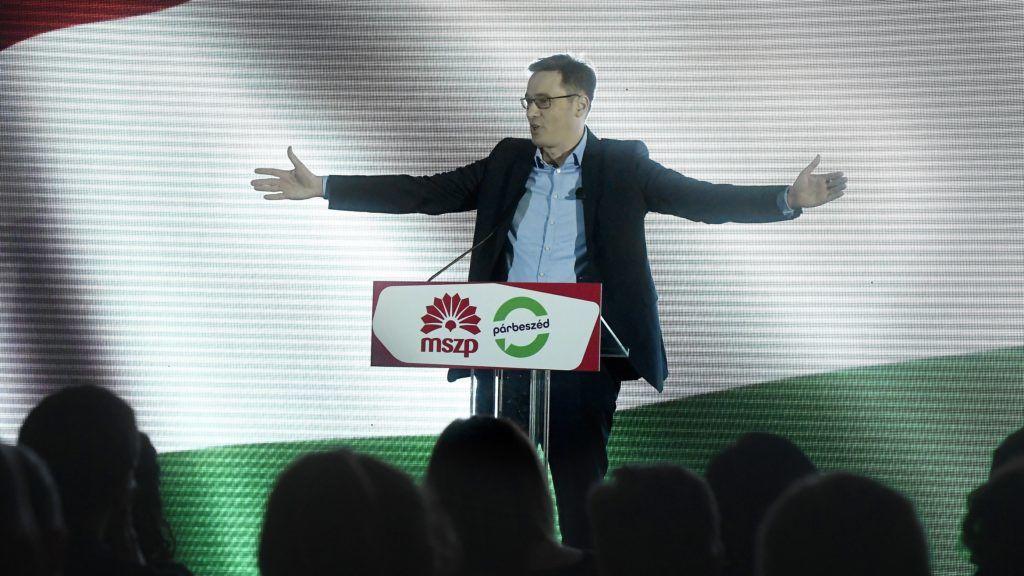 Budapest, 2018. január 10. Karácsony Gergely, a Párbeszéd társelnöke, pártja és az MSZP miniszterelnök-jelöltje az MSZP budapesti évadnyitó rendezvényén a Dürer Rendezvényházban 2018. január 10-én. MTI Fotó: Koszticsák Szilárd
