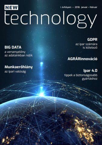 Az új szakújság, a NEW Technology borítója