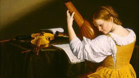 Orazio Gentileschi, The Lute Player, Italian, 1563 - 1639, c. 1612/1620, oil on canvas, Ailsa Mellon Bruce Fund