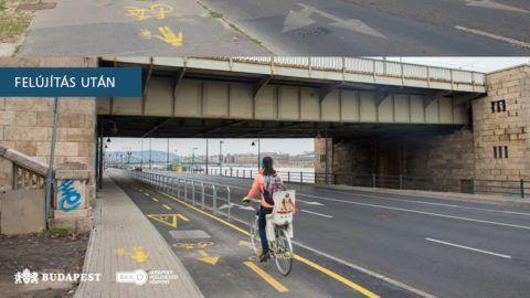 Megújult a Petőfi híd budai hídfője