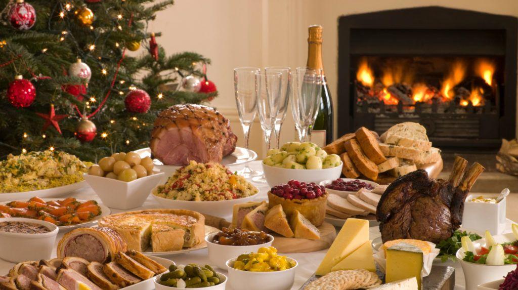 karácsonyi asztal, étel