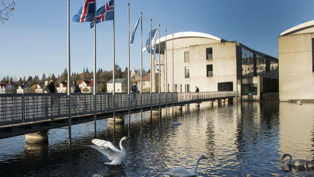 The Reykjavik City Hall is pictured during the election on October 28, 2017 in Reykjavik. / AFP PHOTO / Halldor KOLBEINS